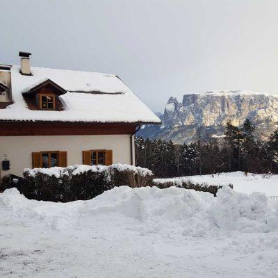 Altopiano del Renon: dormire in un maso in inverno