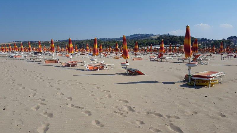 Marina di Petacciato lungo la costa fra Abruzzo e Molise