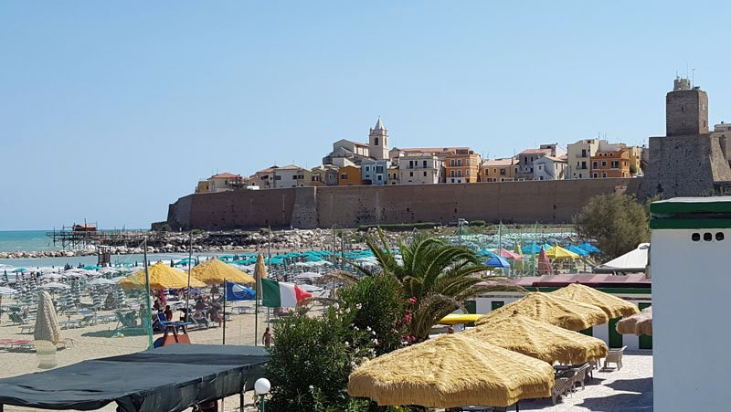 Termoli lungo la costa fra Abruzzo e Molise