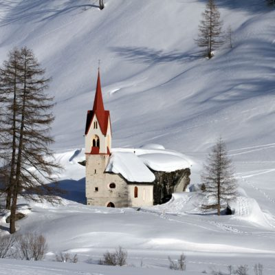Casere in Valle Aurina in inverno